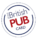 Pub card for british restaurants
